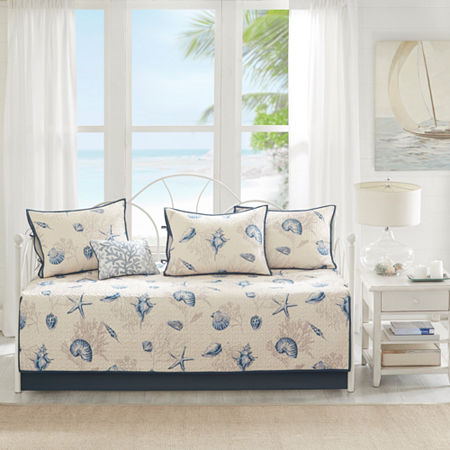 Madison Park Nantucket 6-pc. Daybed Cover Set, One Size , Blue