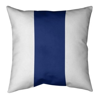 New York New York Big Football Stripes Pillow (Indoor/Outdoor) (16 x 16 - Square - Zipper Closure - Medium - Polyester - Indoor/Outdoor)