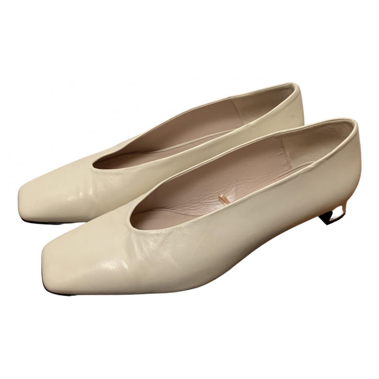Uterque \N Ballerinas in  Beige Leder