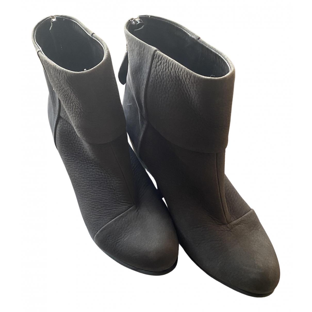 Rag & Bone \N Stiefel in  Grau Leder
