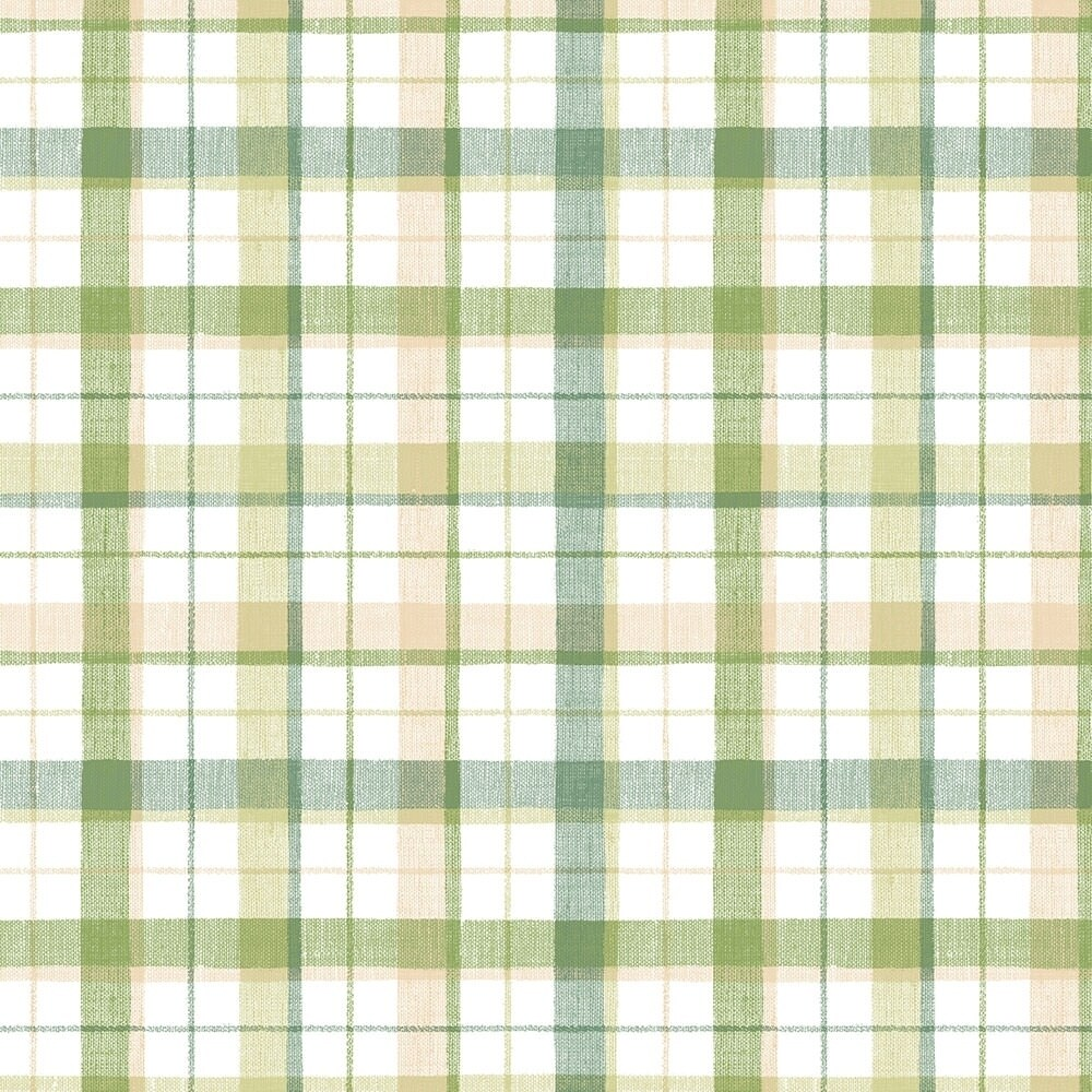 Linen Plaid Wallpaper