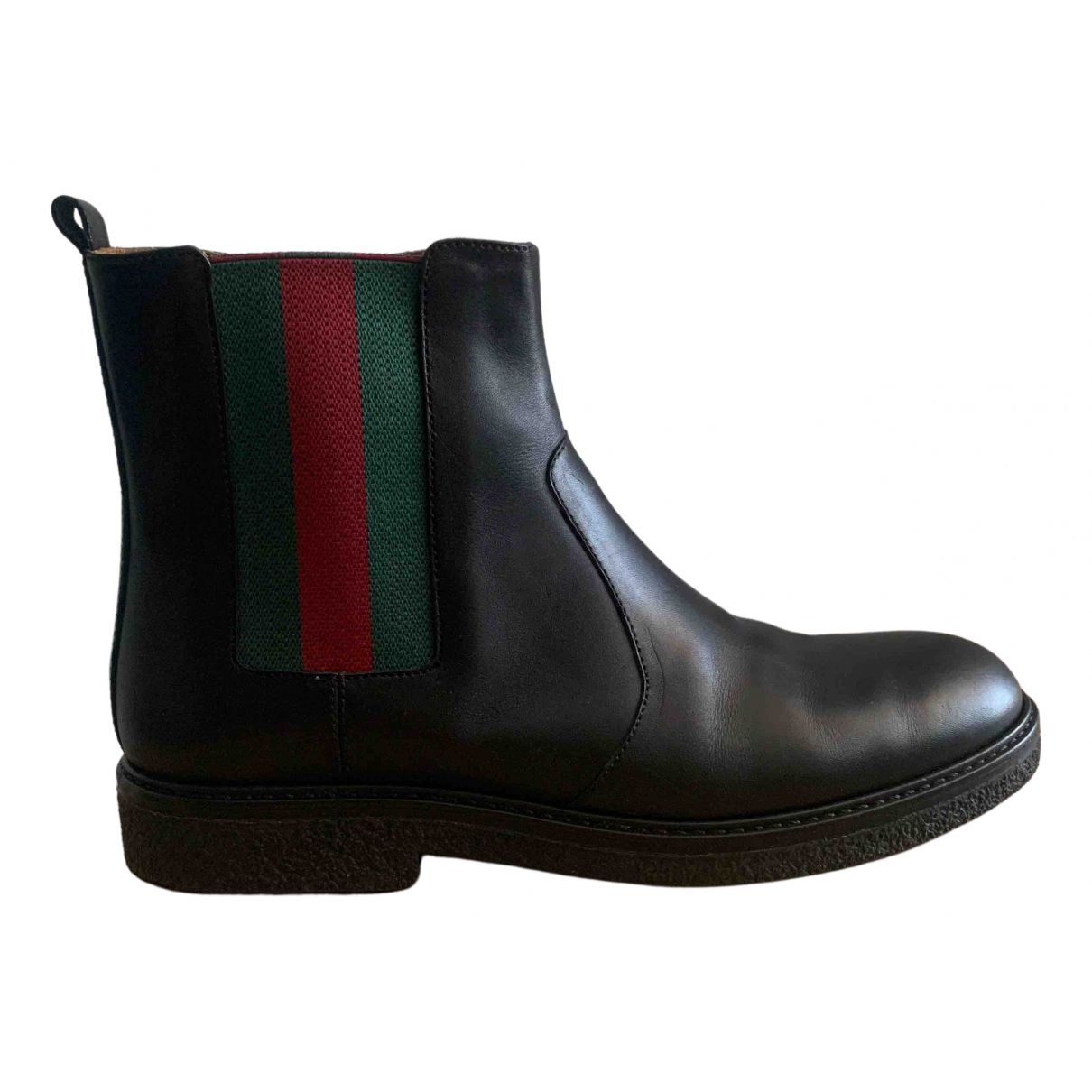 Gucci \N Black Leather Ankle boots for Women 38 EU