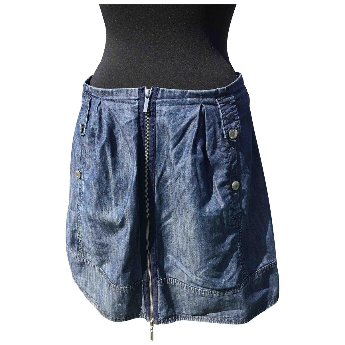 Karen Millen \N Blue Cotton skirt for Women 42 FR