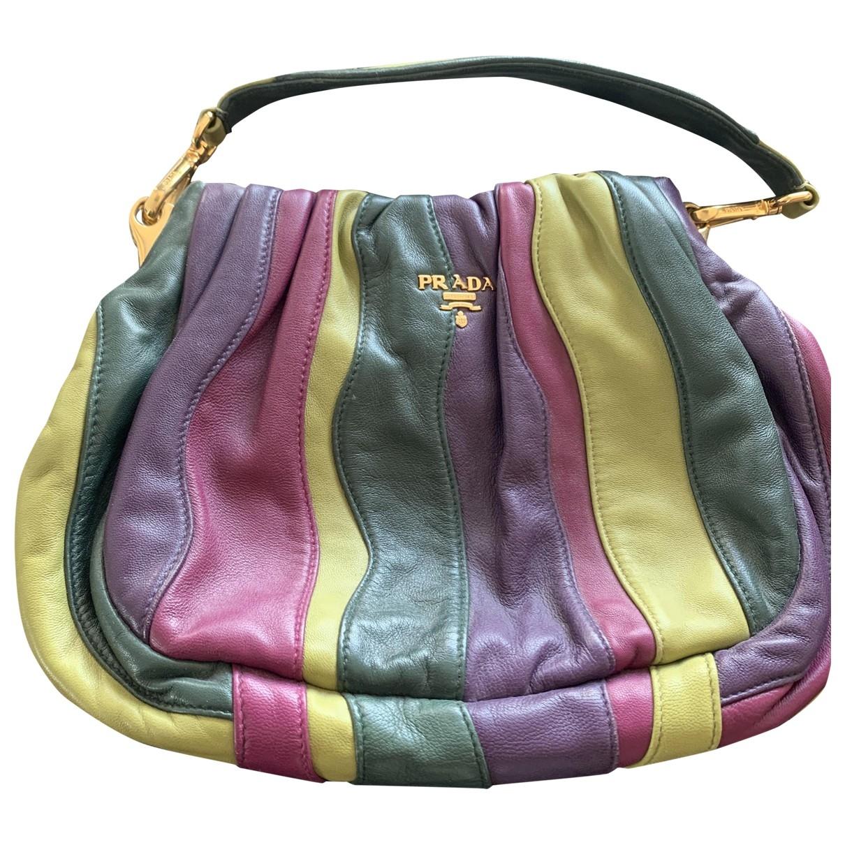 Prada - Sac a main   pour femme en cuir - multicolore