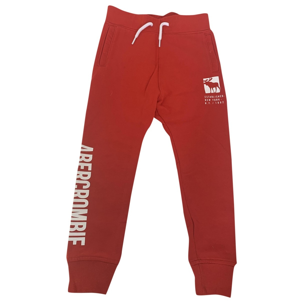 Abercrombie & Fitch \N Red Cotton Trousers for Kids 8 years - up to 128cm FR