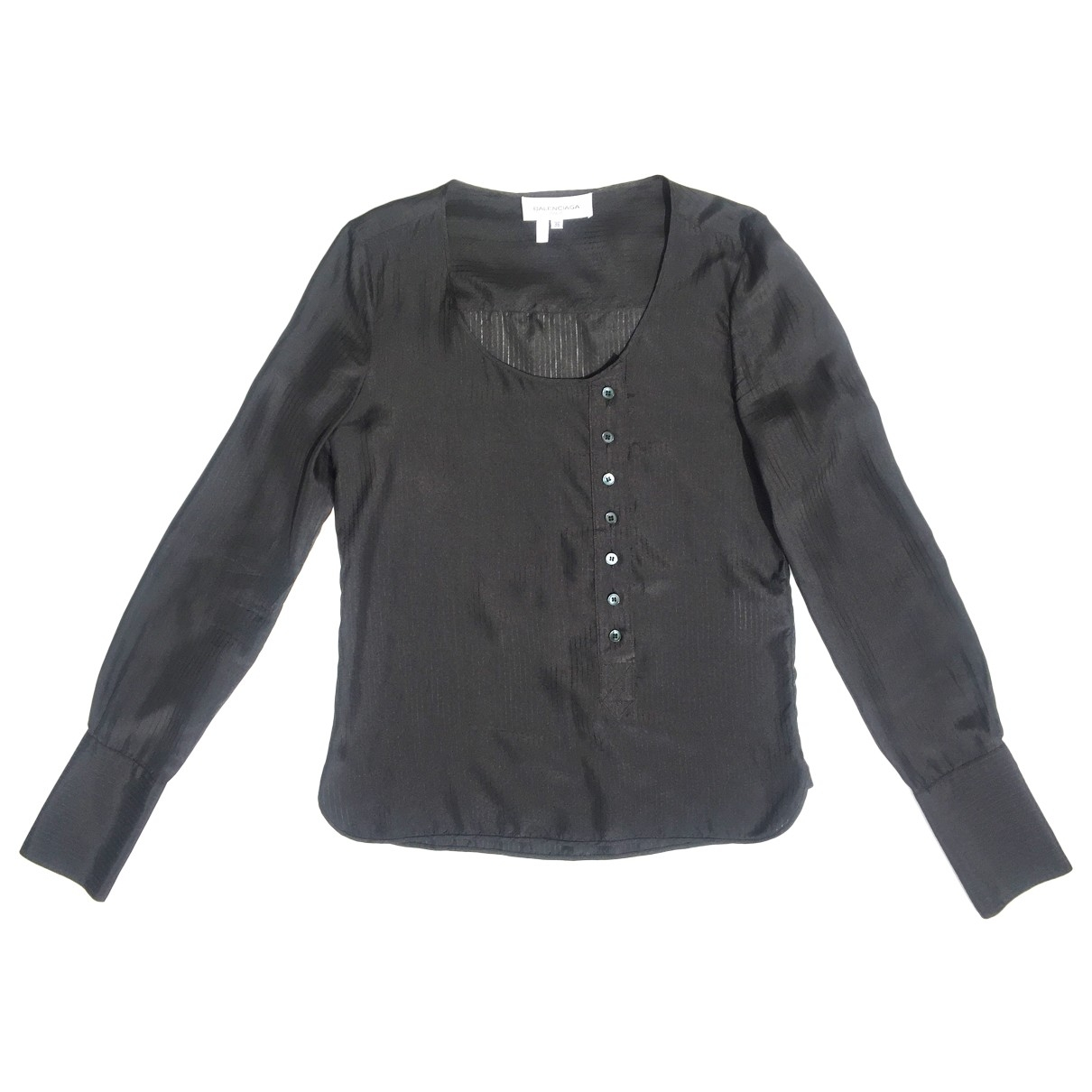 Balenciaga \N Top in  Schwarz Seide