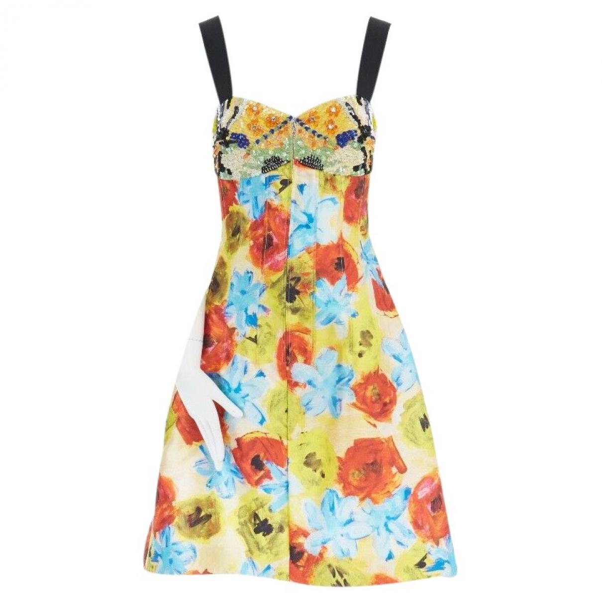 Oscar De La Renta \N Multicolour Silk dress for Women 2 US
