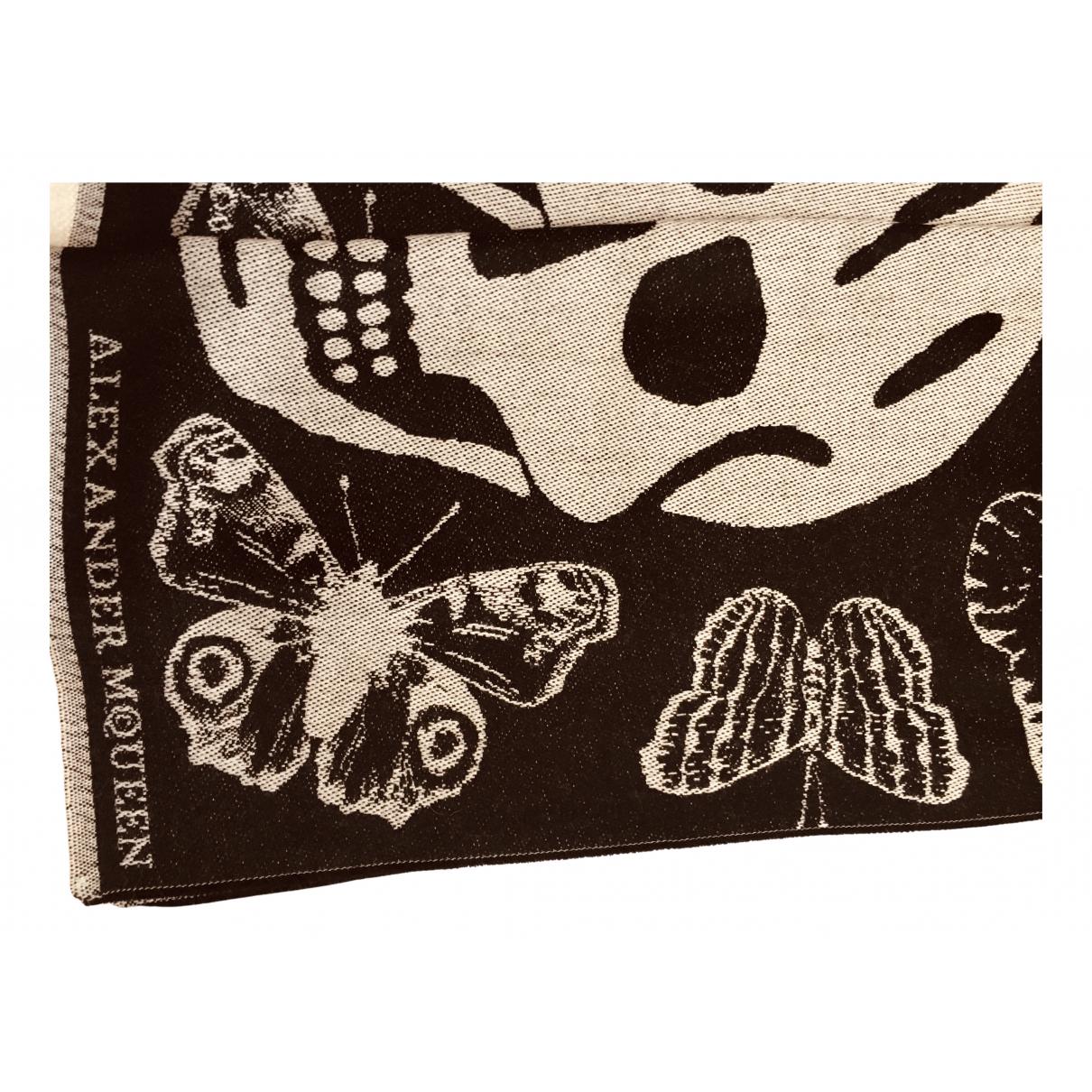 Alexander Mcqueen N Black Wool scarf for Women N
