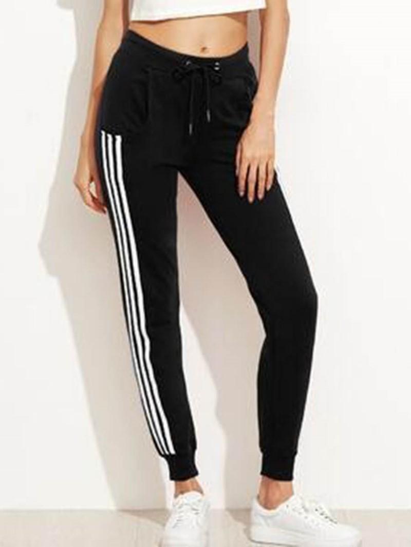 Ericdress Side Stripe Loose Stripe Elastic Waist Women's Casual Pants