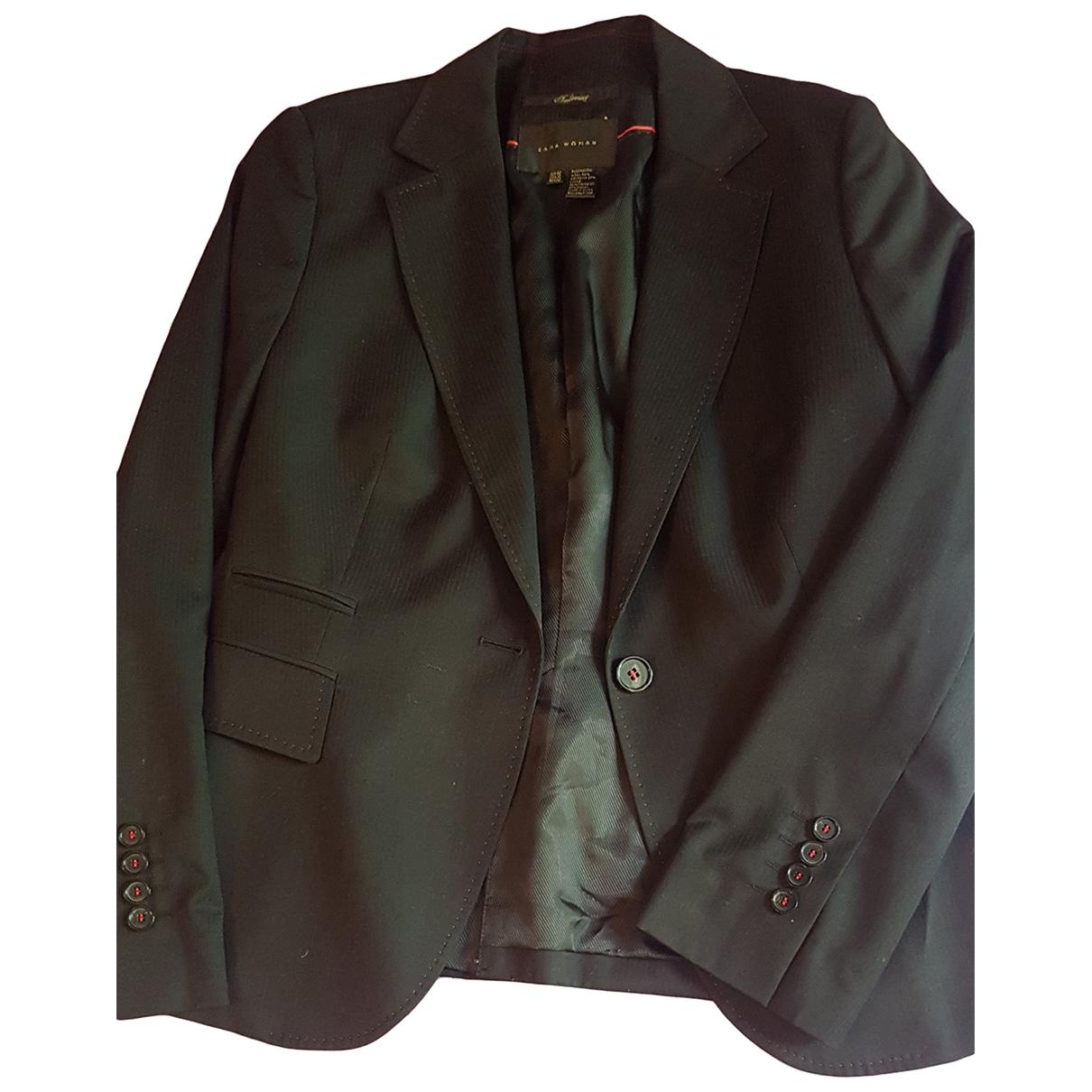 Zara \N Black Wool jacket for Women 40 FR