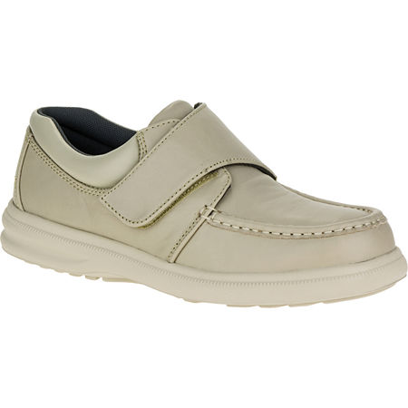 Hush Puppies Gil Mens Moc-Toe Leather Shoes, 9 Extra Wide, White