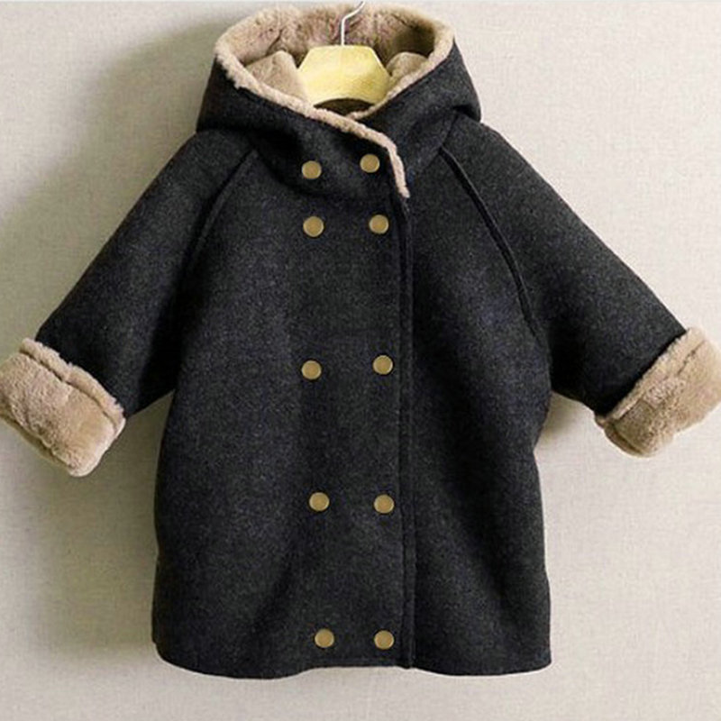 Toddler Winter Coats Boys Fleece Thicken Jacket For 2Y-9Y