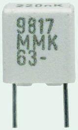 KEMET 1nF Polyester Capacitor PET 200 V ac, 400 V dc ±10%, Through Hole (5)