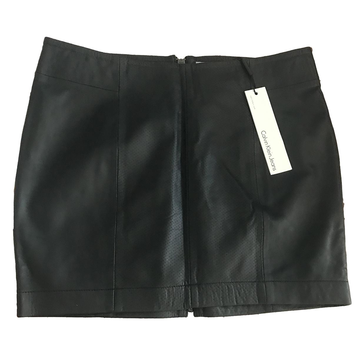 Calvin Klein \N Black Leather skirt for Women S International