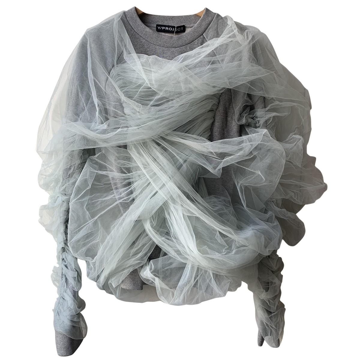 Y/project - Pull   pour femme en coton - gris