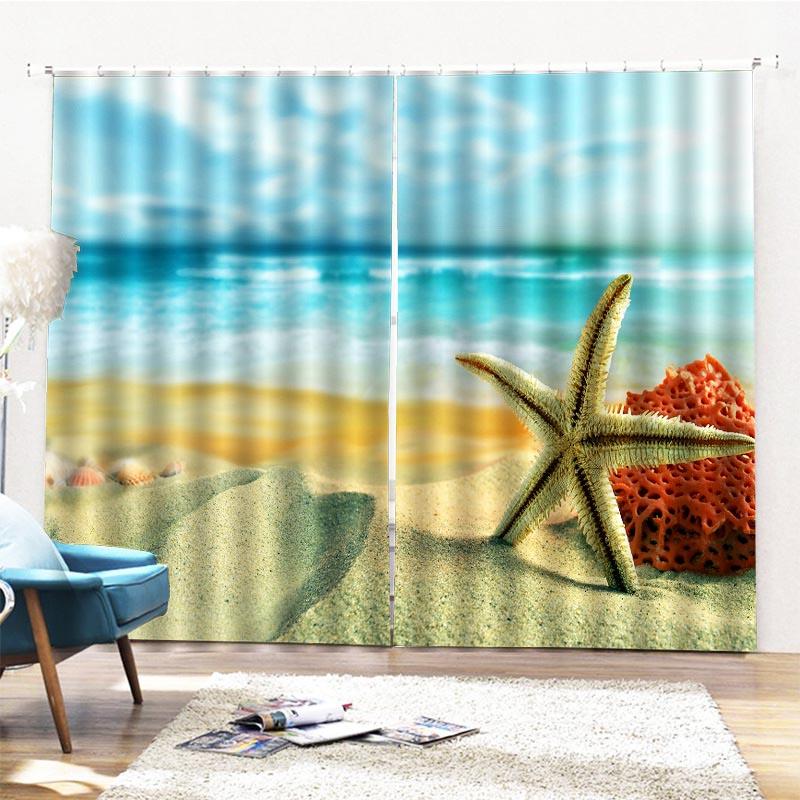 Beddinginn Modern Ultraviolet-Proof Beach Curtains/Window Screens