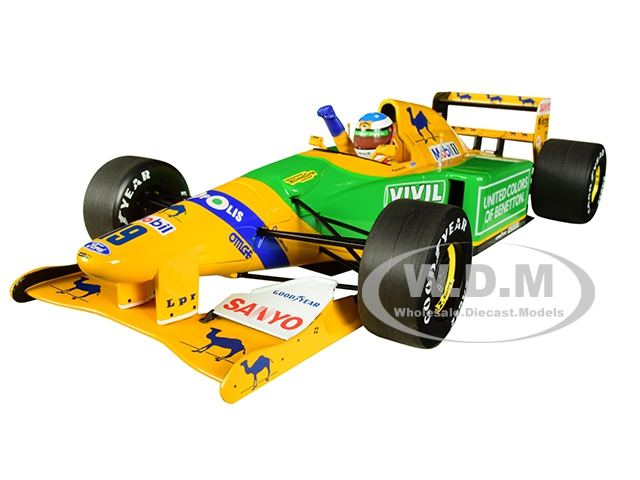 Benetton Ford B192 Camel 19 Michael Schumacher 3rd Place GP Germany (1992) Limited Edition to 300 pieces Worldwide 1/18 Diecast Model Car by Minich