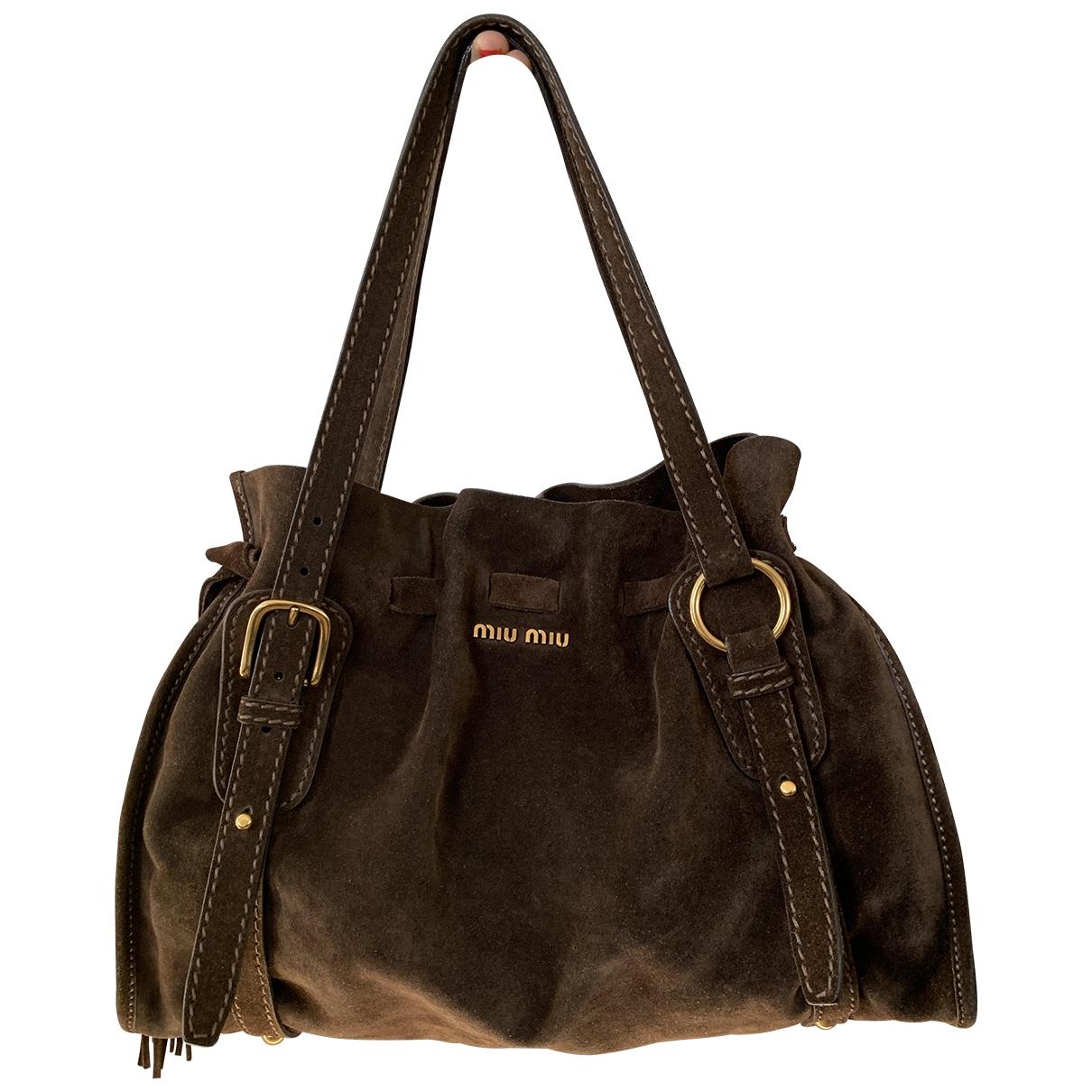 Miu Miu \N Handtasche in  Braun Veloursleder