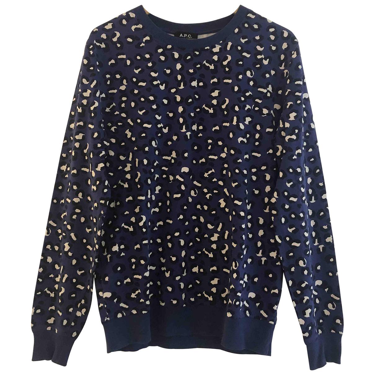 Apc \N Pullover.Westen.Sweatshirts  in  Blau Baumwolle