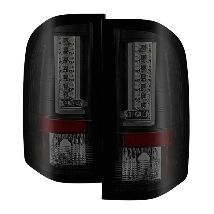Spyder Auto ALT-YD-CS07V2-LED-BSM Version 2 LED Tail Lights Black Chevy Silverado 07-13