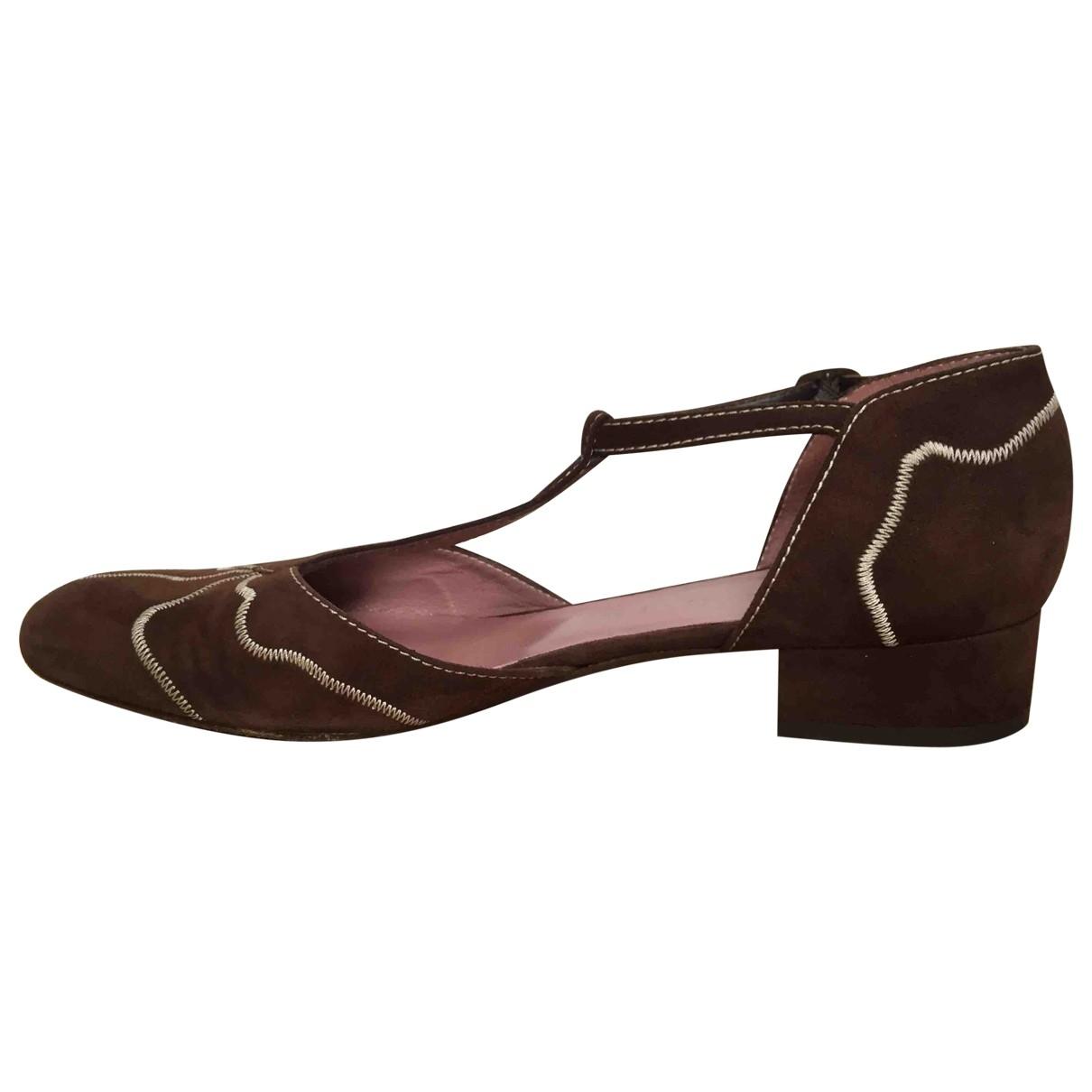 Marni - Escarpins   pour femme en cuir - marron