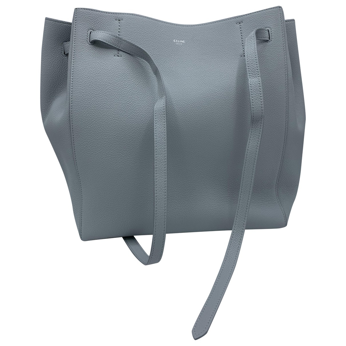 Celine Cabas Phantom Grey Leather handbag for Women \N