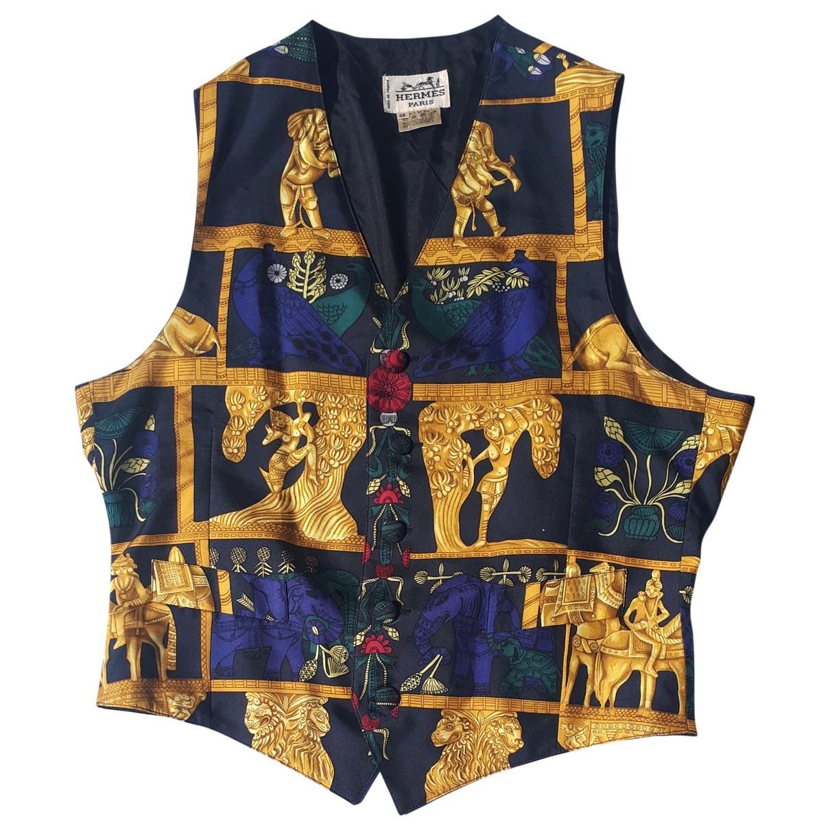 Hermes - Pulls.Gilets.Sweats   pour homme en soie - multicolore