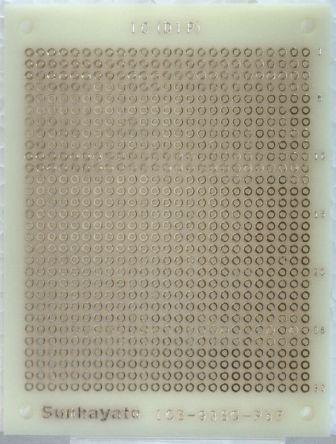 Sunhayato ICB-88SEG-PBF, Matrix Board with 0.9mm Holes 2.54 x 2.54mm Pitch, 72 x 47 x 1.2mm
