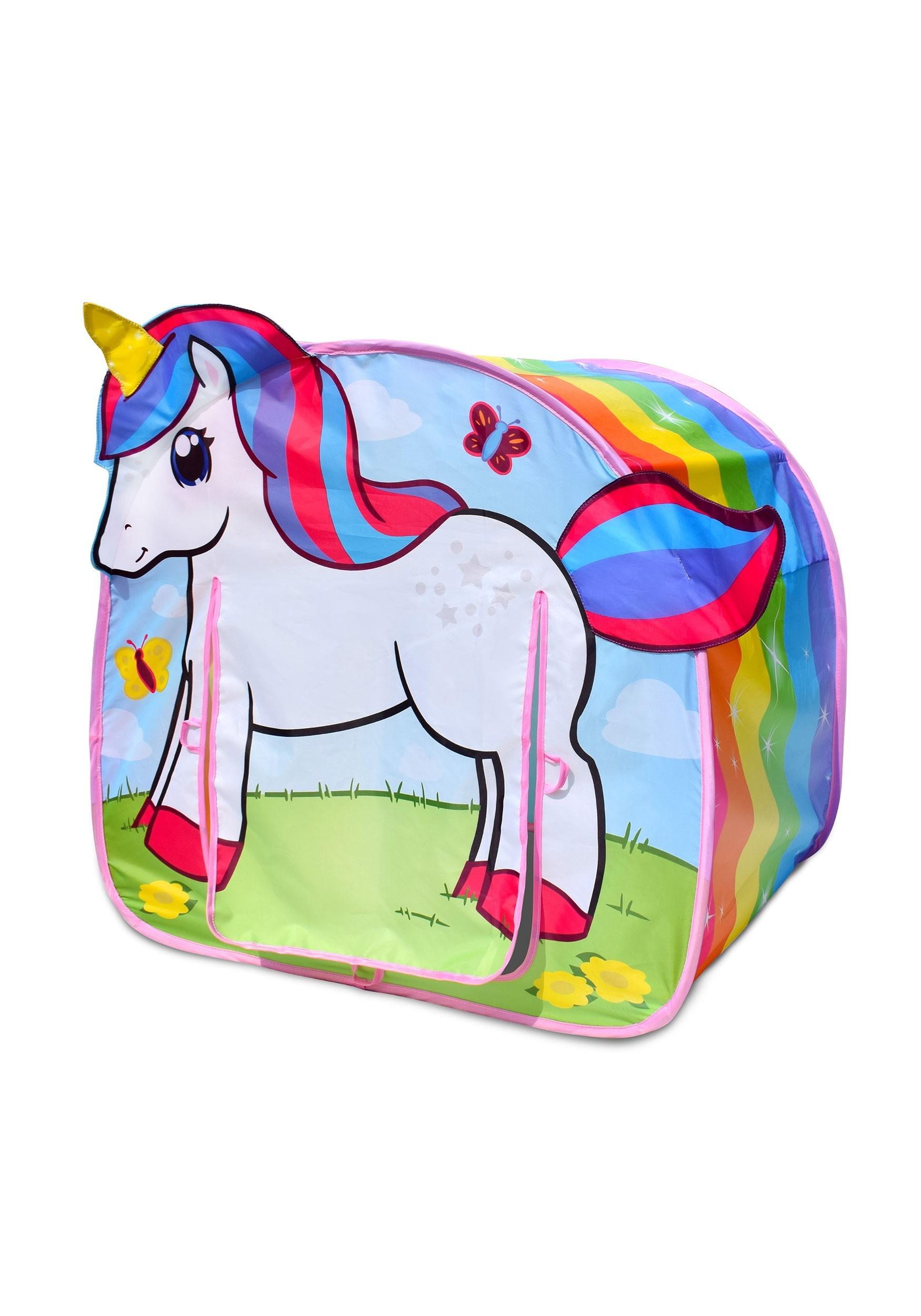 Pop-Up Unicorn Rainbow Dream Play Tent
