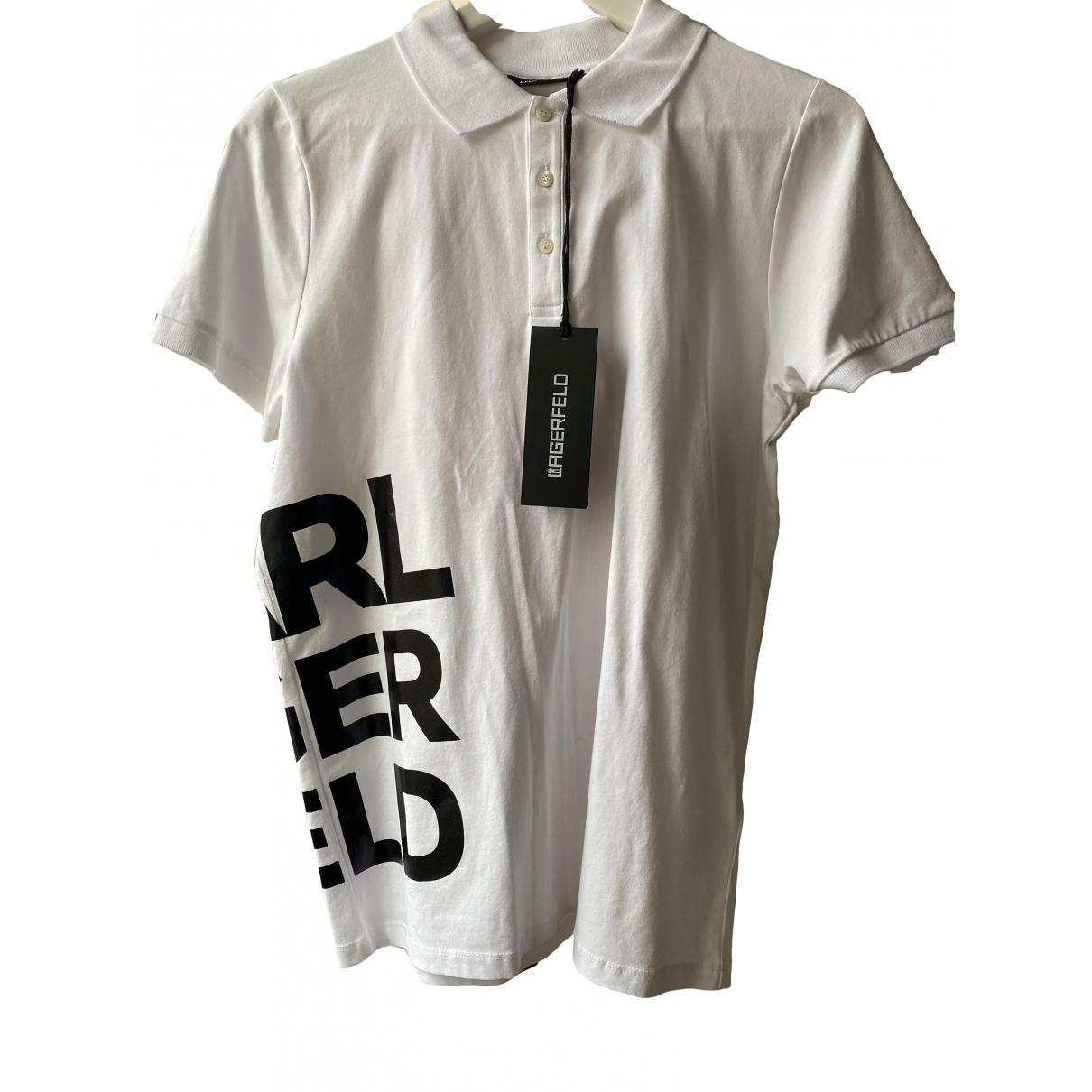 Karl Lagerfeld - Polos   pour homme en coton - blanc