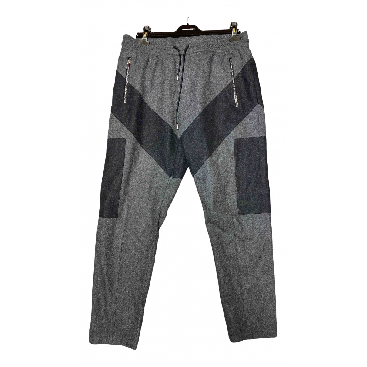 Givenchy \N Anthracite Wool Trousers for Men 50 IT