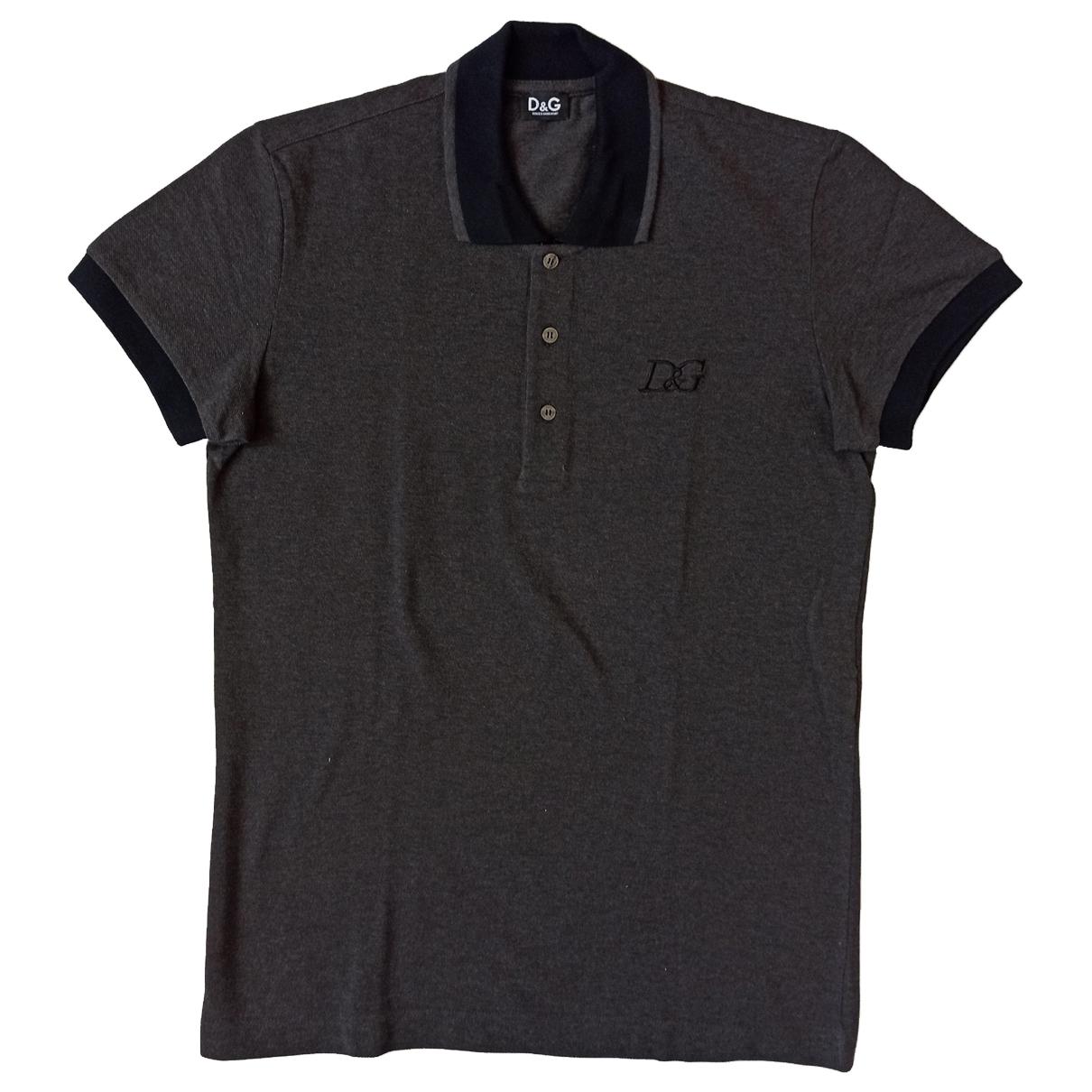 D&g \N Grey Cotton Polo shirts for Men M International