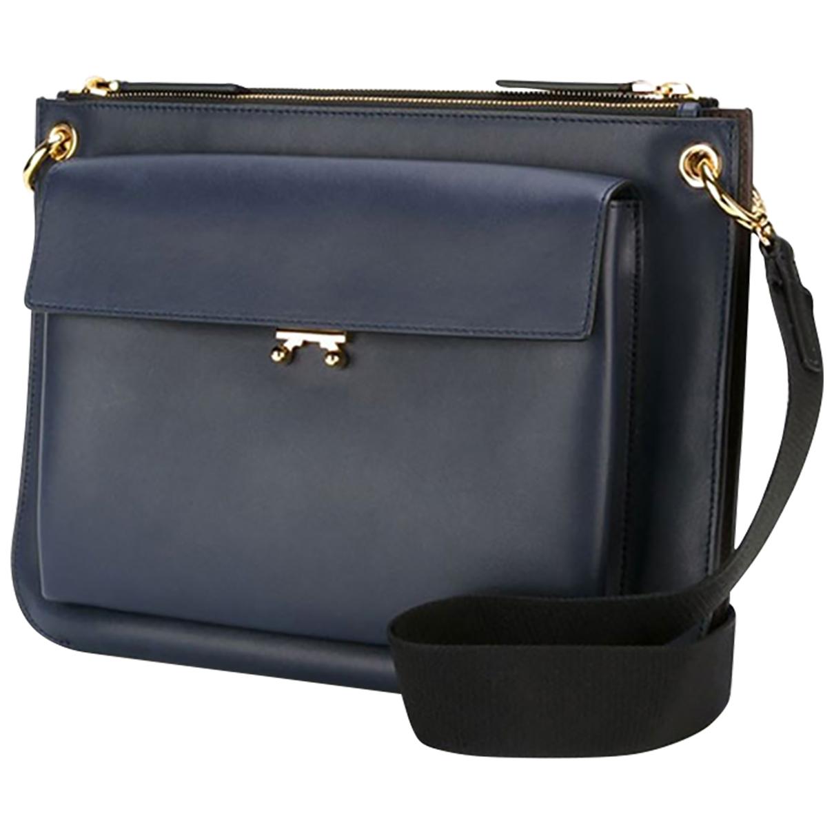 Marni \N Navy Leather handbag for Women \N