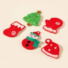 5 piezas horquilla de niñitas con sombrero de Navidad
