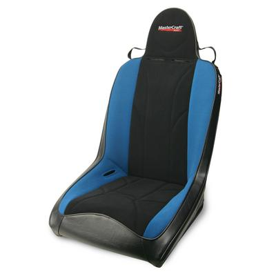 MasterCraft Safety Rubicon Front Seat with Fixed Headrest (Black/Blue) - 524113
