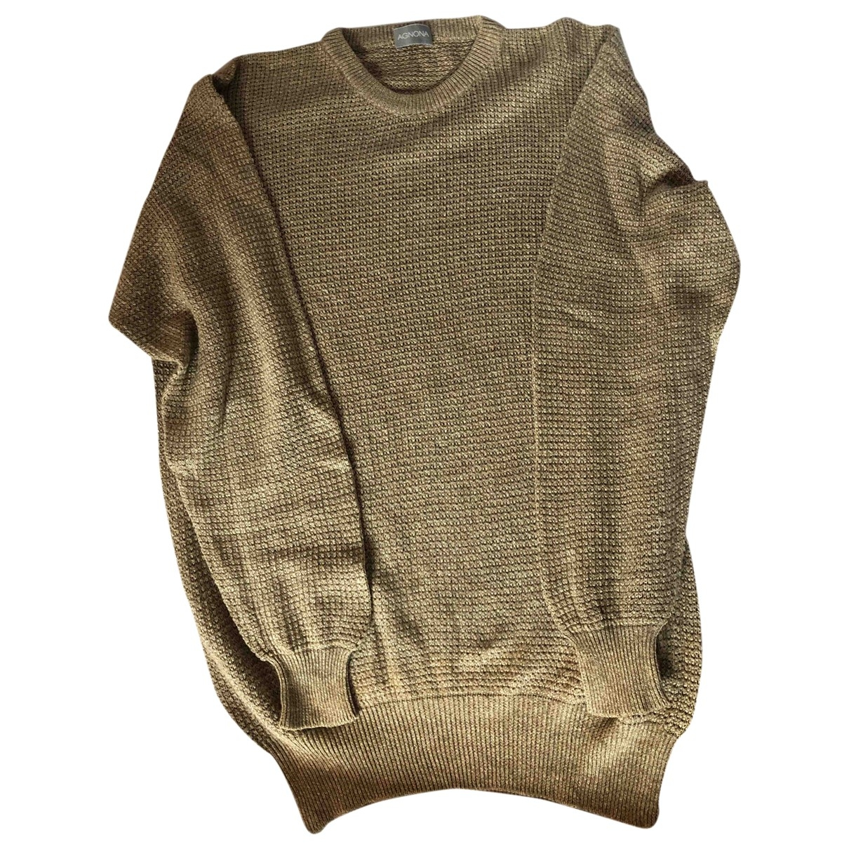 Agnona \N Pullover.Westen.Sweatshirts  in  Beige Baumwolle