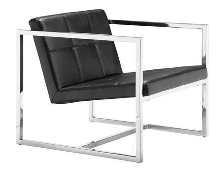 500073 Carbon Collection 26 Chair with Chromed Steel Tube Frame  and Leatherette Upholstery in