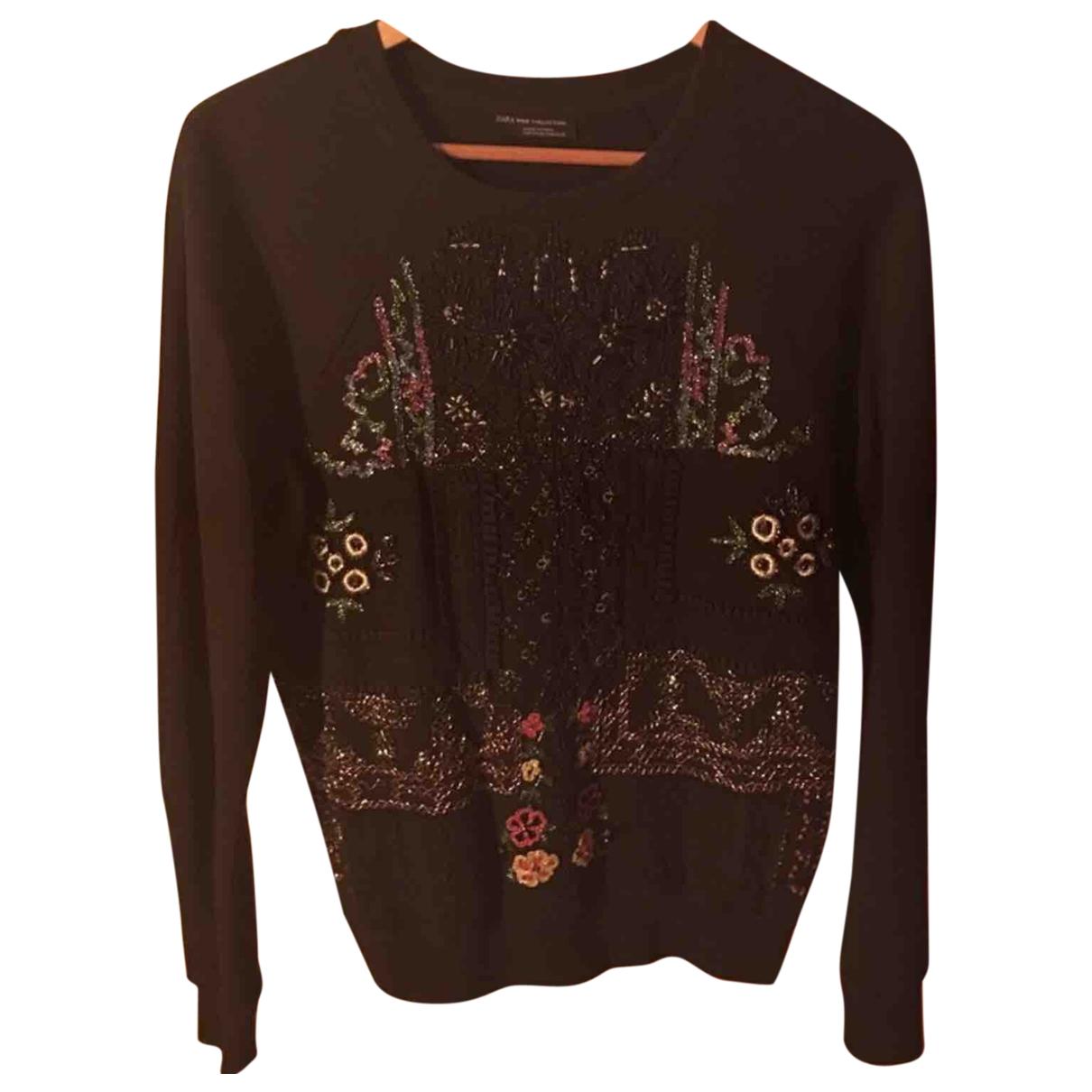 Zara \N Black Cotton Knitwear for Women S International