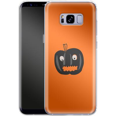 Samsung Galaxy S8 Plus Silikon Handyhuelle - Pumpkin Monster von caseable Designs