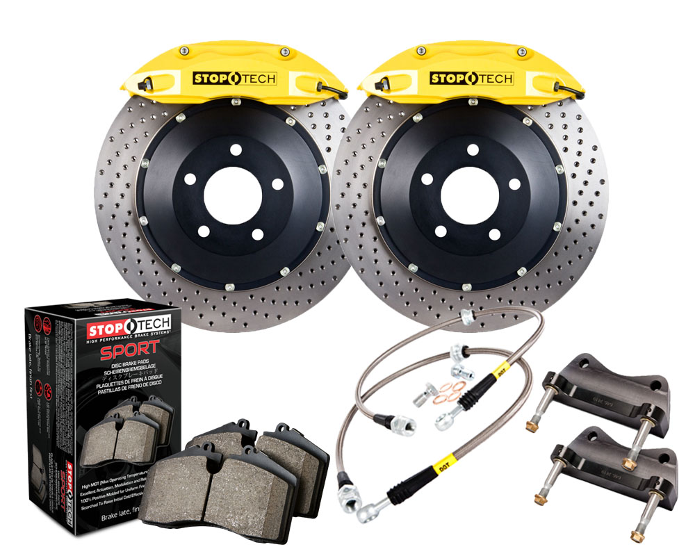 StopTech 83.328.4600.82 Big Brake Kit 2 Piece Rotor; Front Ford Mustang Front
