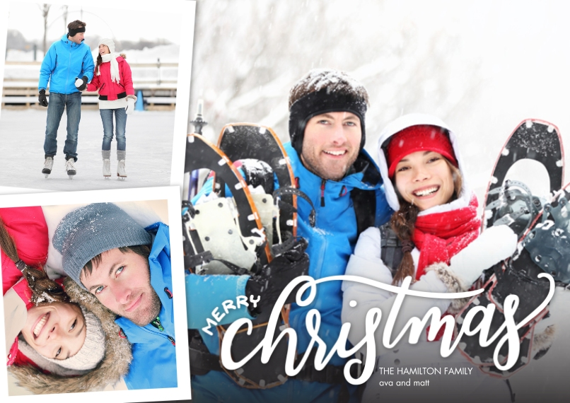 Christmas Photo Cards 5x7 Cards, Premium Cardstock 120lb, Card & Stationery -Christmas Simple Handlettered by Tumbalina