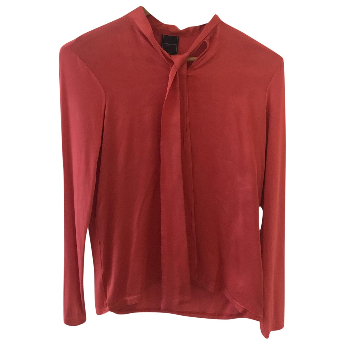Non Signé / Unsigned \N Red Silk  top for Women 36 FR