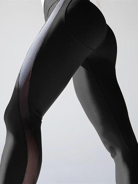 Yoins Yoga Pants Quick-drying Mesh Stitching Legging
