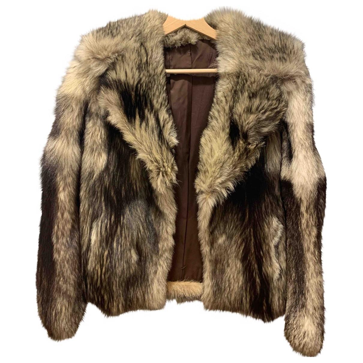 - Manteau   pour femme en fourrure - multicolore