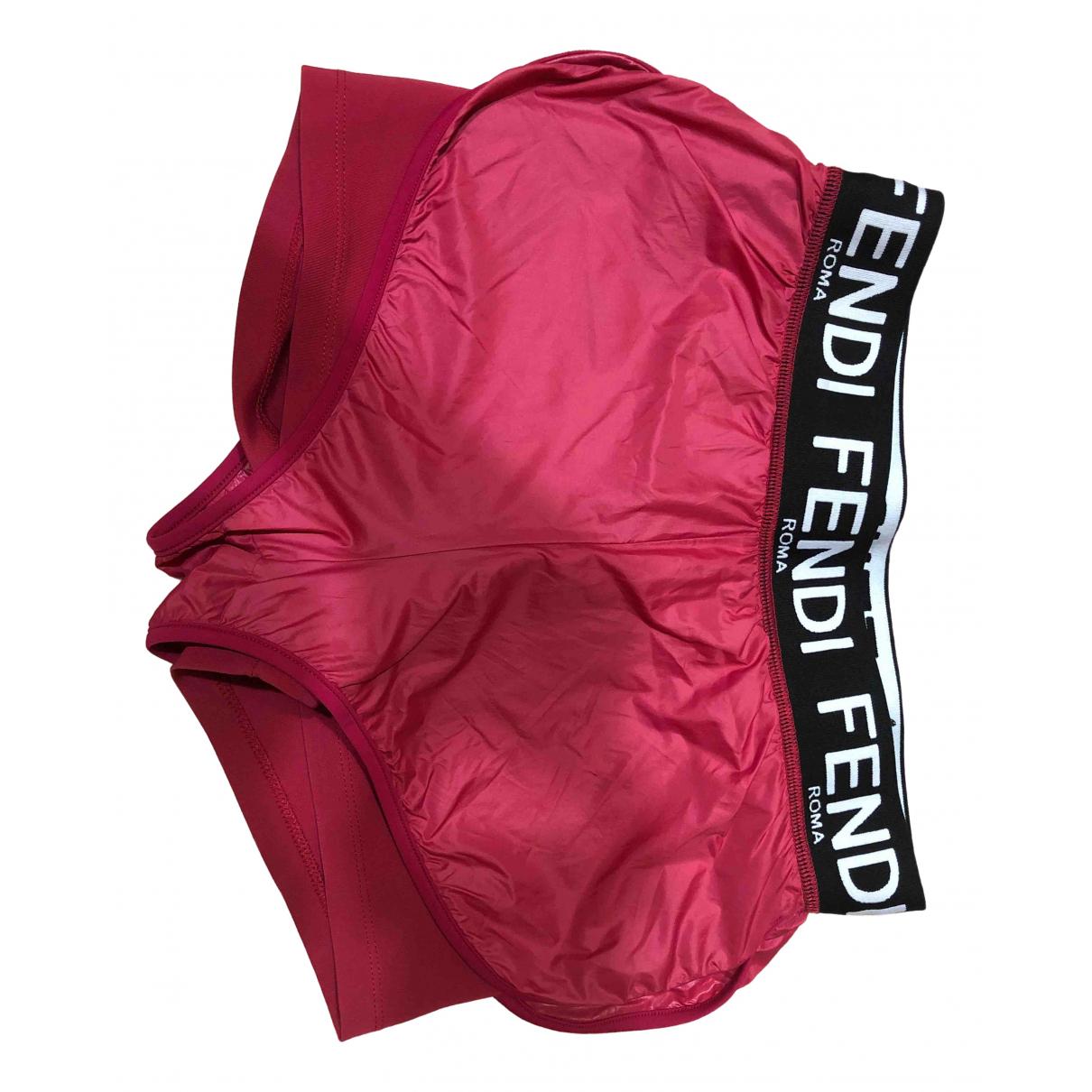 Fendi \N Red Shorts for Women 38 IT