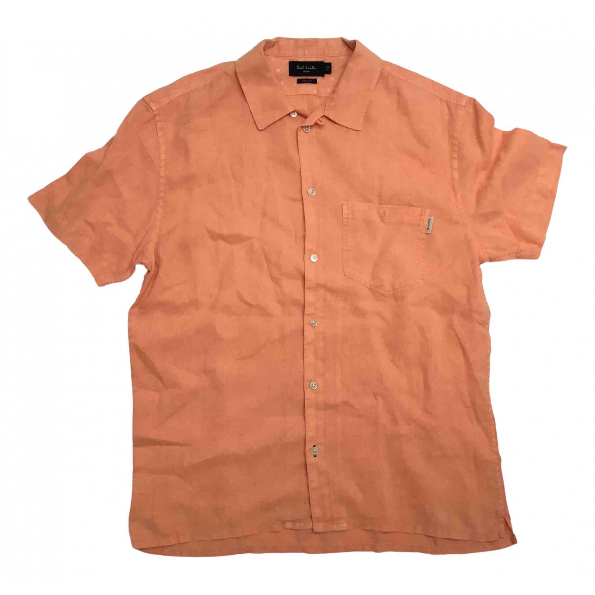 Paul Smith - Chemises   pour homme en lin - orange