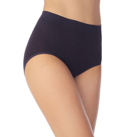 Vanity Fair Smoothing Comfort Seamless Brief Panties- 13264, 7 , Black