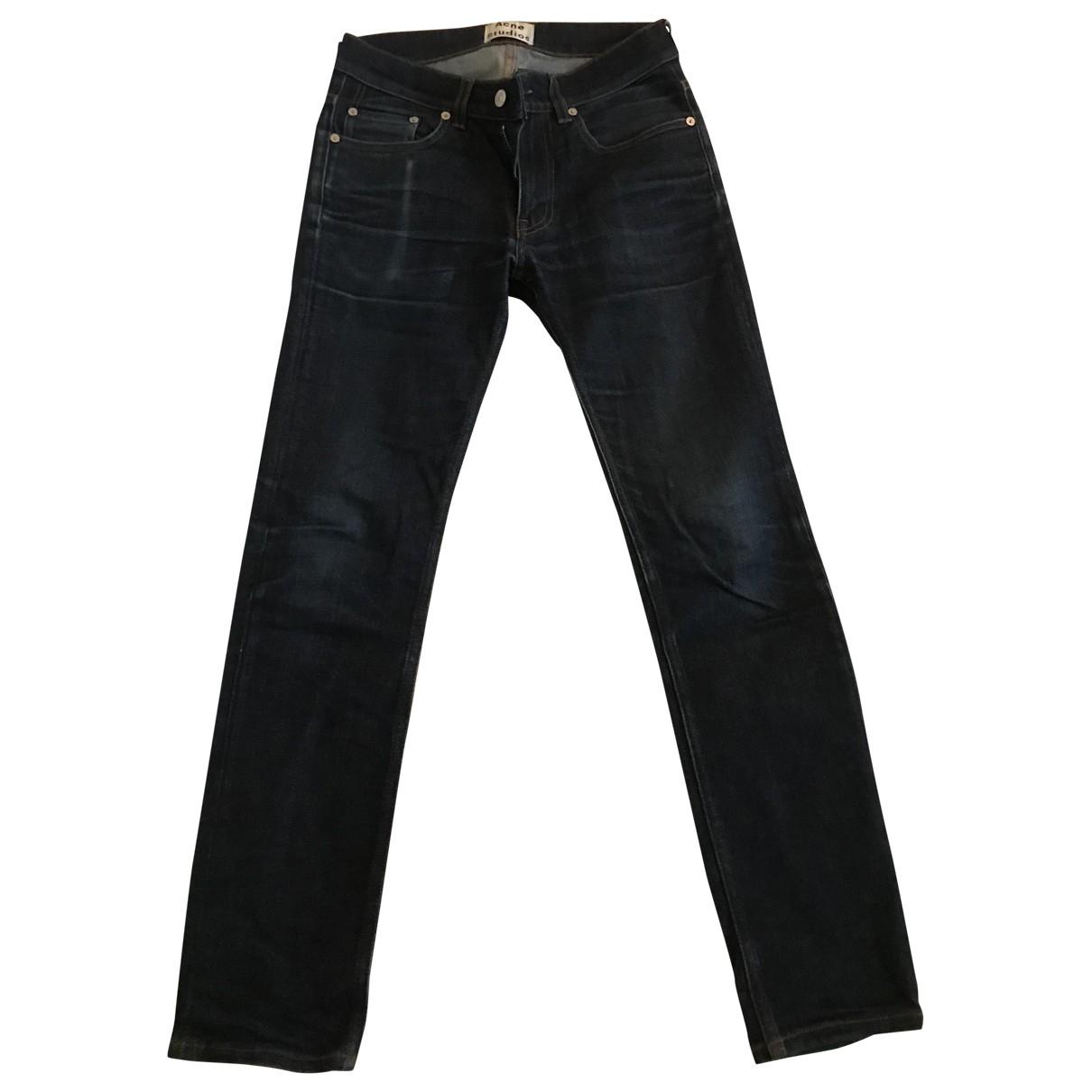 Acne Studios \N Blue Cotton Jeans for Men 28 US