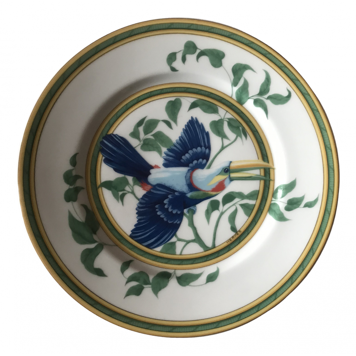 Hermes - Arts de la table Toucans pour lifestyle en porcelaine - multicolore