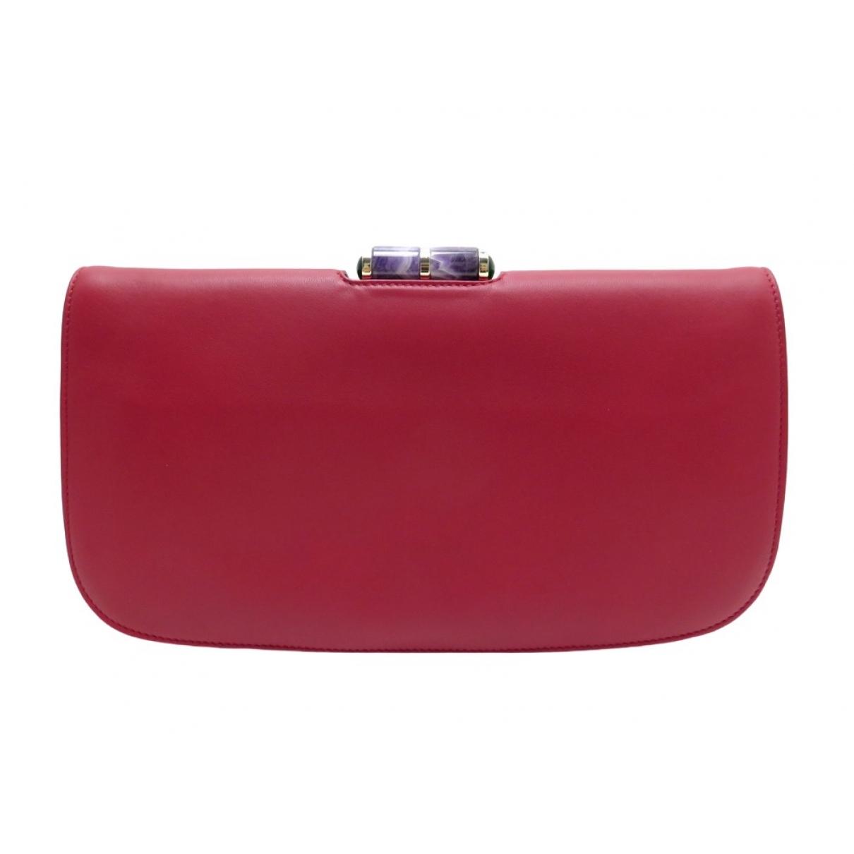 Bvlgari - Pochette   pour femme en cuir - rouge